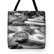 Smokey Mountain Stream Of Flowing Water Over Rocks Tote Bag