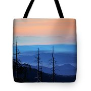 Smokey Mountain Sunset As Seen From Clingman's Dome Tote Bag