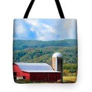 Smokie Mountain Barn Tote Bag by Betty LaRue