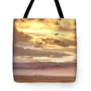 Smoky Sunset Over Boulder Colorado  Tote Bag