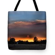 Smoky Sunset Wide Angle 08 27 12 Tote Bag