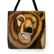 Snarling Grizzly Tote Bag