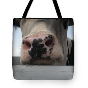 Sniffing Cow Tote Bag