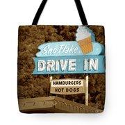 Sno-flake Drive In Lake Tahoe Tote Bag