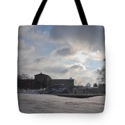 Snow At The Art Museum - Philadelphia Tote Bag