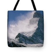 Snow Blows Off Of The Matterhorn Tote Bag