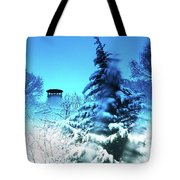 Snow Bow Tote Bag