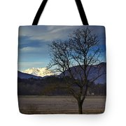 Snow-capped Monte Rosa Tote Bag