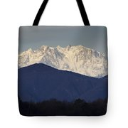 Snow-capped Mountain Monte Rosa Tote Bag