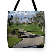 Snow Capped Mountains In The Desert Tote Bag