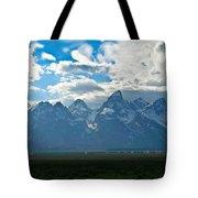 Snow Capped Teton Mountains Tote Bag