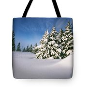 Snow Covered Trees In The Oregon Tote Bag by Natural Selection Craig Tuttle