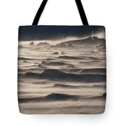 Snow Drift Over Winter Sea Ice Tote Bag by Antarctica