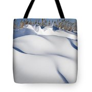 Snow Drifts On A Hill Tote Bag