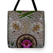 Snow Flowers And Orchids In Heavenly Wisdom Tote Bag