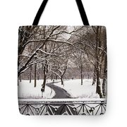 Snow In Central Park Tote Bag