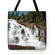 Snow Melt Glen Alpine Falls Tote Bag