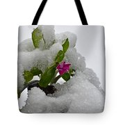Snow On The Flowers Tote Bag