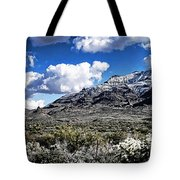 Snow On The Superstitions  Tote Bag