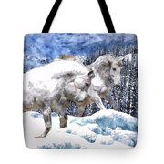 Snow Play Tote Bag