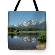 Snow Reflections Mt Tallac Tote Bag