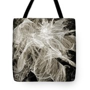 Snow Storm Abstract Tote Bag