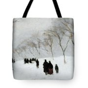 Snow Storm Tote Bag by Anton Mauve