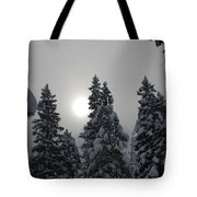 Snow Sun Tote Bag