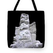 Snow Totem Pole Tote Bag