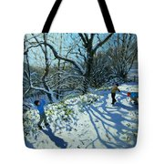 Snowball Fight Tote Bag