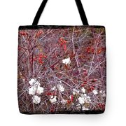 Snowberries And Rosehips Tote Bag