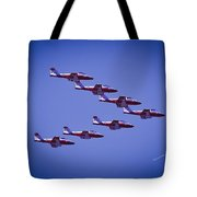 Snowbird V Formation Tote Bag