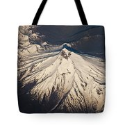 Snowcovered Volcano Andes Chile Tote Bag by Colin Monteath
