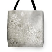 Snowflake In White Tote Bag