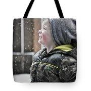Snowflake Thoughts Tote Bag