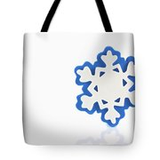 Snowflake With Reflection Tote Bag