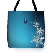 Snowflakes On My Window Tote Bag