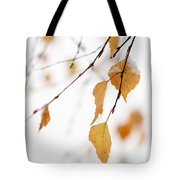 Snowing In Autumn Tote Bag