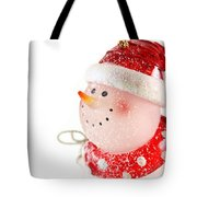 Snowman Figure Tote Bag