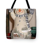 Snowman With Bell Tote Bag
