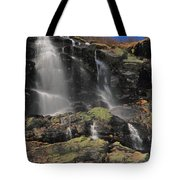 Snowmelt Waterfalls In Tuckermans Ravine Tote Bag