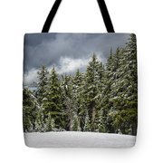 Snowstorm In The Cascades Tote Bag