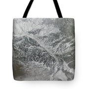 Snowy And Hazy Central Russia Showing Tote Bag