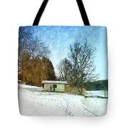 Snowy Beach Tote Bag by Jutta Maria Pusl