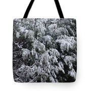 Snowy Branches Winter Tote Bag