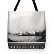 Snowy Cloud Gate Tote Bag