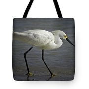 Snowy Egret By The Lagoon Tote Bag