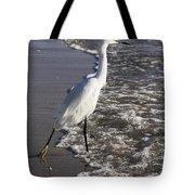 Snowy Egret Walking Tote Bag