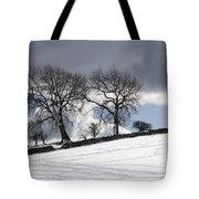 Snowy Field, Weardale, County Durham Tote Bag by John Short