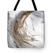 Snowy Fountain Grass Tote Bag